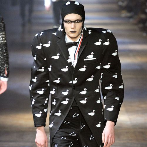 Thom Browne, Menswear, AW12. The jock vs. punk subculture dichotomy that Thom Browne created for