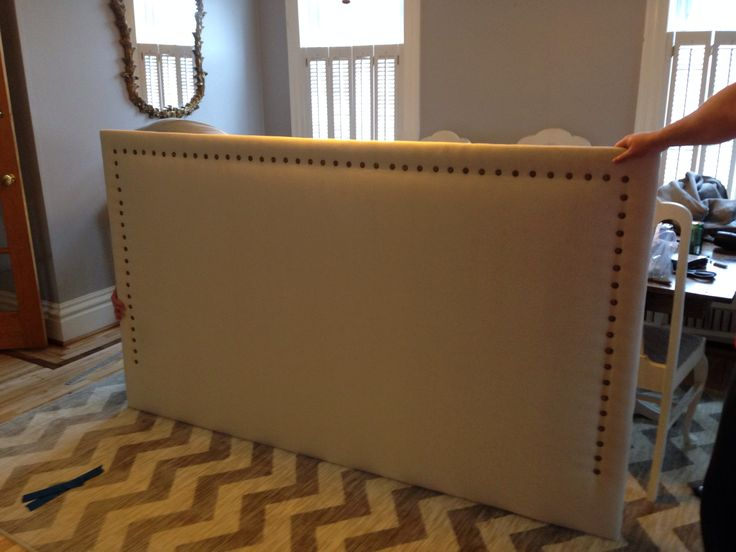 DIY drop cloth headboard ❤️