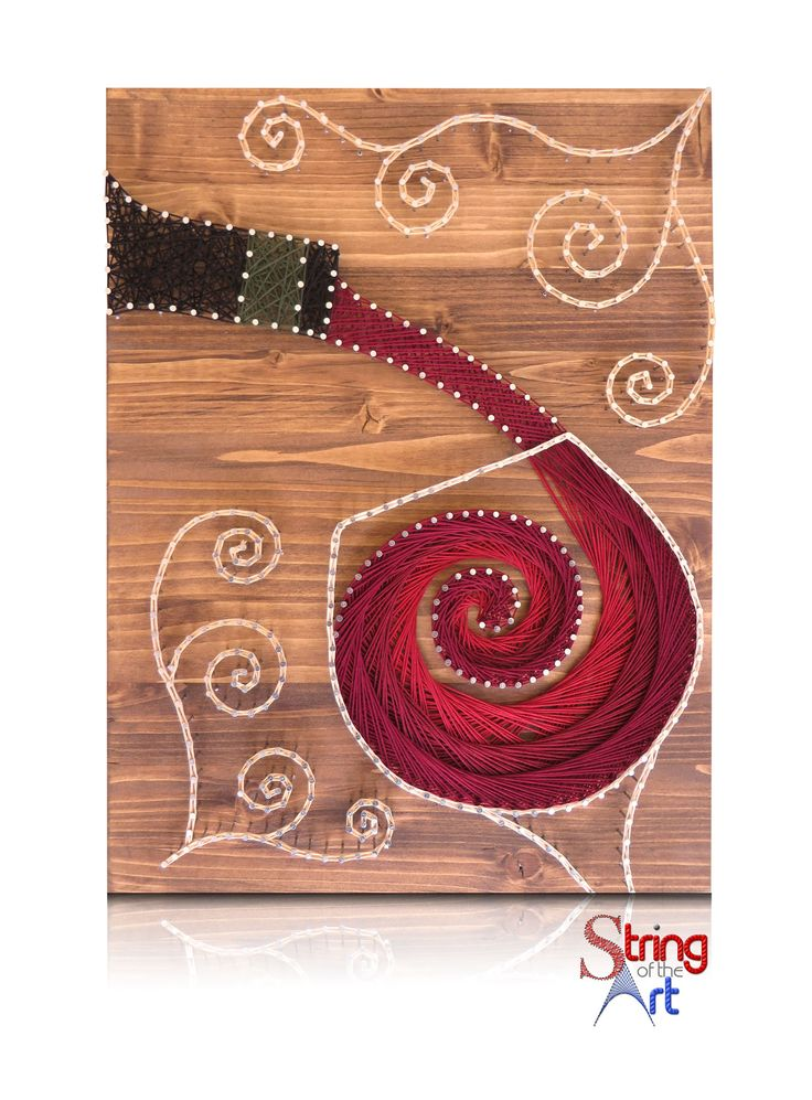DIY String Art Kit - Wine String Art. Visit www.StringoftheArt.com to learn more about this beautiful Wine String Art Kit!