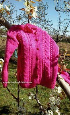 Παιδικό ροζ ζακετάκι
