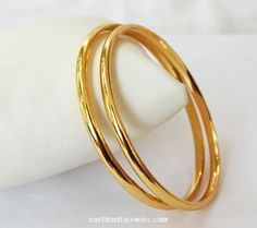 Gold platred plain bangle