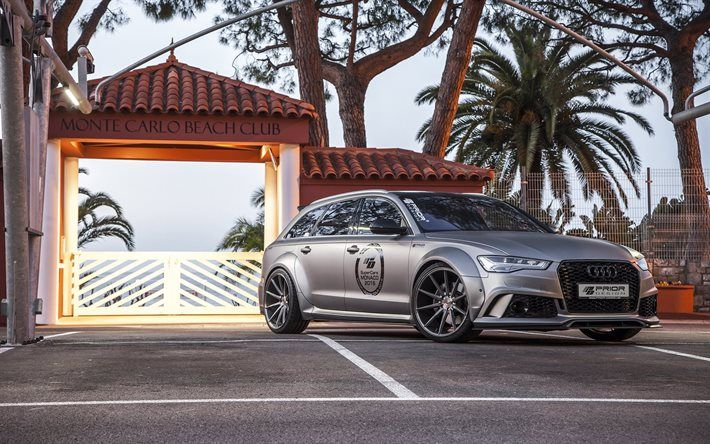Prior Design, tuning, 2016, Audi RS6 Avant, PD600R, gray Audi, wagons