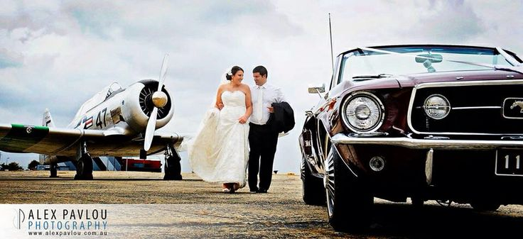 Melbourne wedding photography at Essendon Airport..... Photography by Con Tsioukis of Alex Pavlou Photography - www.alexpavlou.com