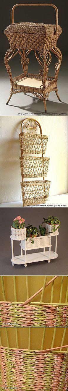 Идеи для творчества. Плетение из бумаги и газет.
