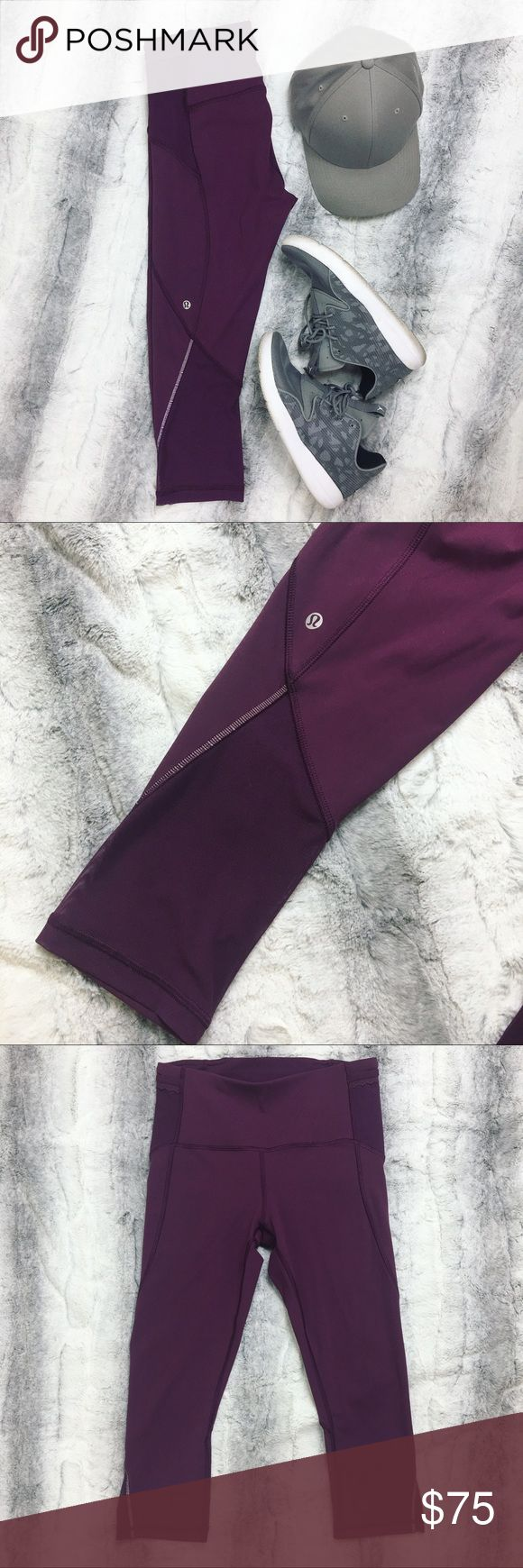 Lululemon • Purple Mesh Leggings Selling these amazing purple leggings by Lululemon. They have mesh pockets on the side and mesh paneling on the back. These are absolutely adorable. Worn only a couple times, still in excellent condition!! 💋 lululemon athletica Pants Leggings