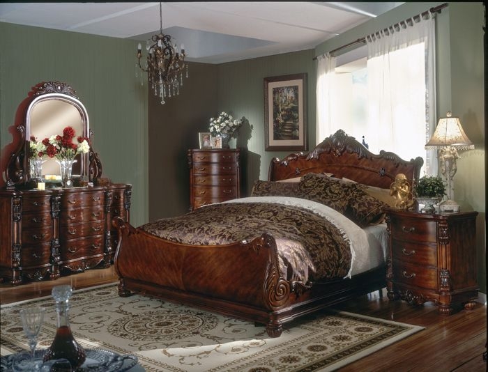 81 monticello bedroom set monticello cherry wood sleigh for Value city furniture amherst ny