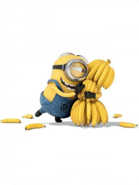ミニオン ラブ♡な バナナのイラスト