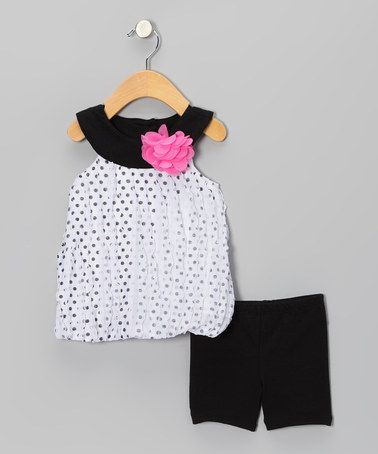 Take a look at this Black Bubble Tunic & Shorts - Infant & Toddler by Young Hearts on #zulily today!