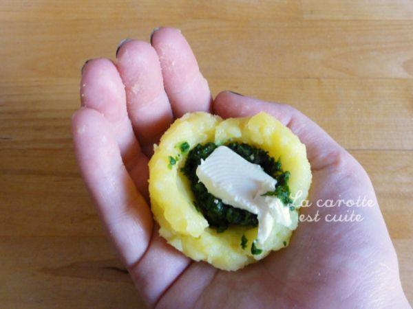 Boulette pomme de terre farcie epinard et fromage 02
