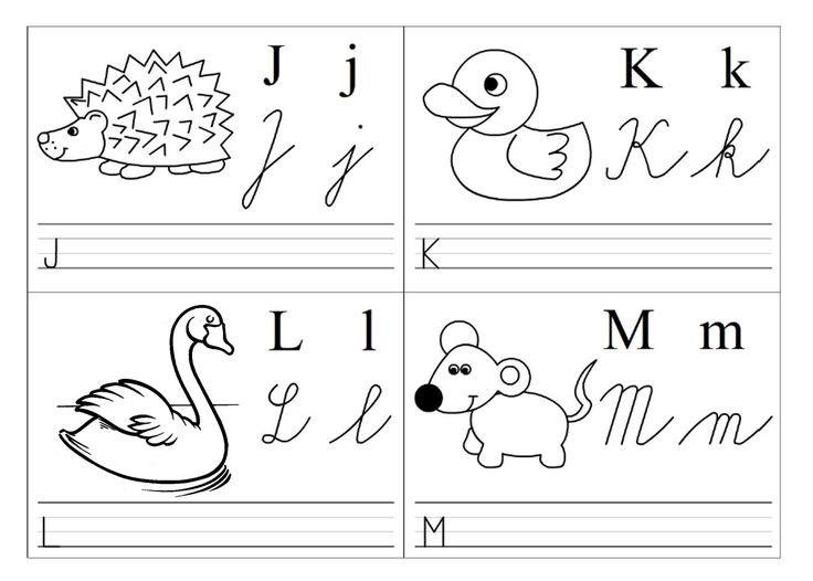 abeceda kartičky jklm