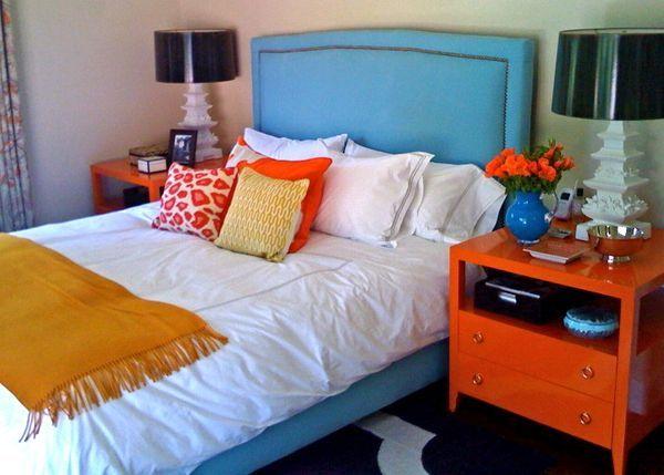exciting blue orange bedroom ideas | 221 best images about Blue & Orange on Pinterest