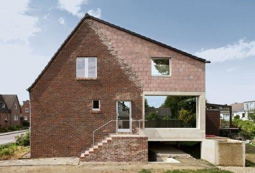 Extensión en hormigón y ladrillo vivienda sustentabilidad recomendados ampliacion 2 alemania