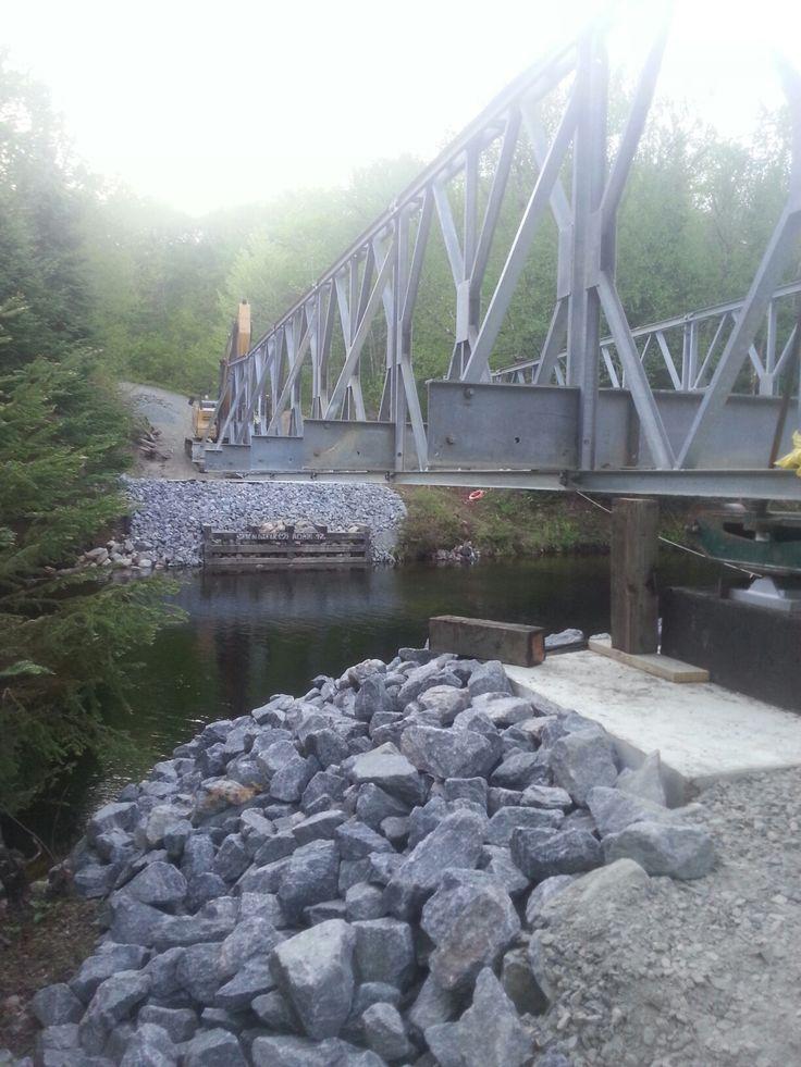 West Bay Road Bridge Installation