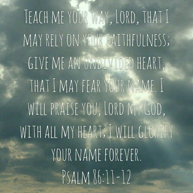 Psalm 86:12-I will glorify God's Name forever! (I Will in Psalms)