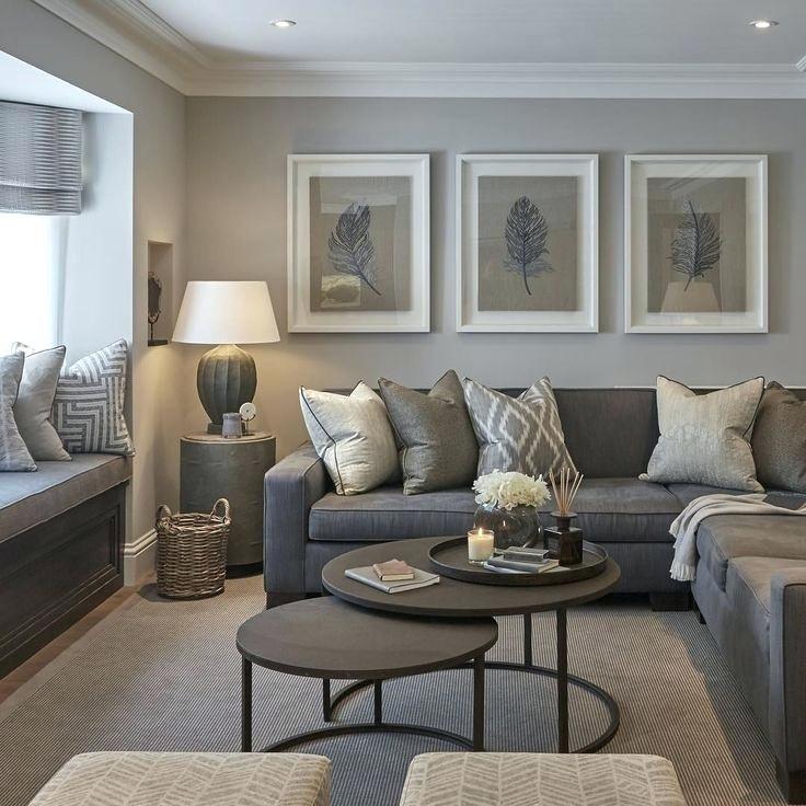 Best Gray Neutral Color Scheme White Frames Above Dark Grey 400 x 300