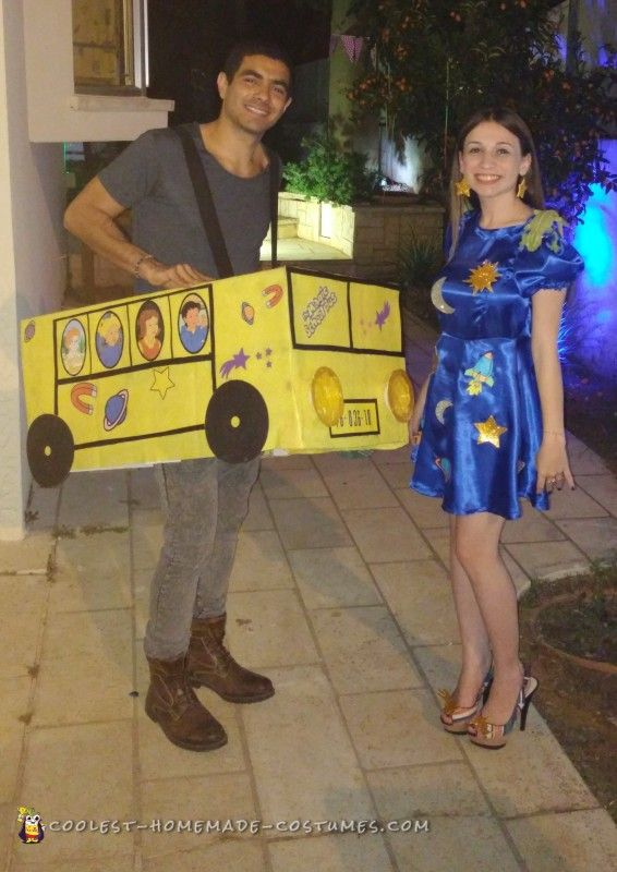 the magic school bus homemade couple costume - Halloween Costumes Idea For Couples