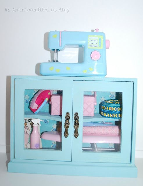 An American Girl at Play: Sewing Cabinet sewing machine from Our Generation at Target.