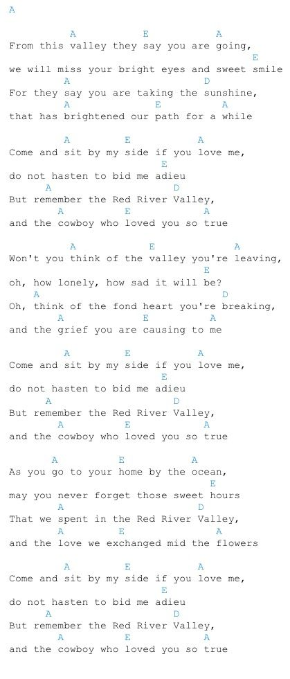 Red River Valley Guitar Chords