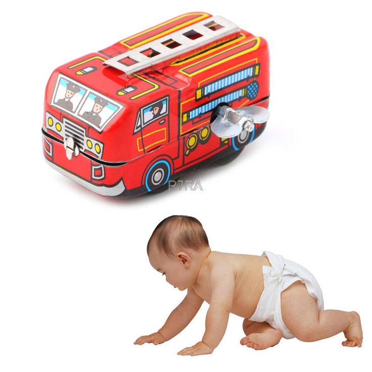 2017 Hot Vintage Fire Chief Firefighter Car Truck Clockwork Model Toys Children Gifts  may13_30