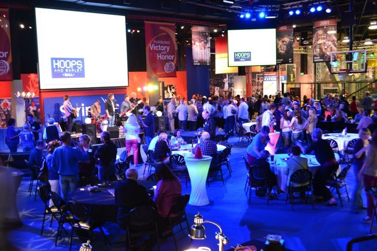 Picture your next event at the Hall of Fame! The official National Hall of Fame for men's college basketball transforms into stunning space for events of all kinds. Available for private rental, The CBE can accommodate groups from 25 to 1,200!