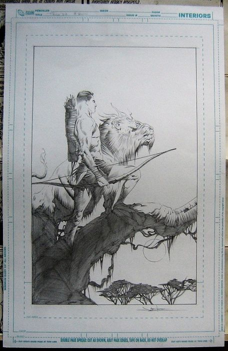 Catawiki online auction house: Original cover art by Jae Lee - Thun'da - Dynamite Entertainment #2 - (2012)