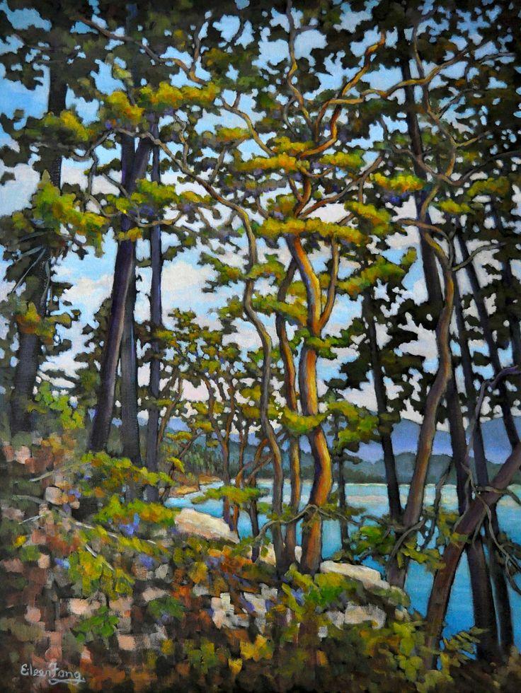 Painting of Arbutus Trees
