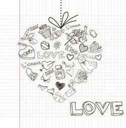 Trouwkaart hart gemaakt van liefde accessoires. Kies de kaart, pas de tekst aan en vraag een gratis proefdruk op (je betaalt zelfs geen verzendkosten!). http://www.trouwpost.nl/trouwkaarten/hartjes/