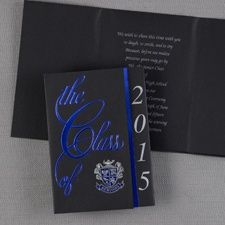 Blue and Silver Class Colors College Graduation Announcements and Invitations Item Number:GYG603