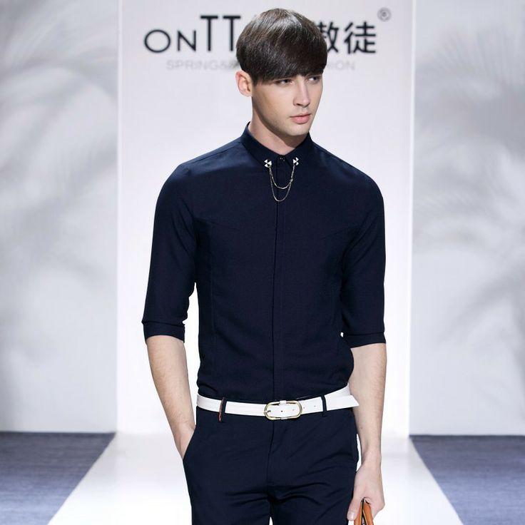 New 2014 Summer Fashion  Casual  slim fit  shirt men  brand Short-sleeved polo  shirts  14036  S M L XL XXL $1360,44