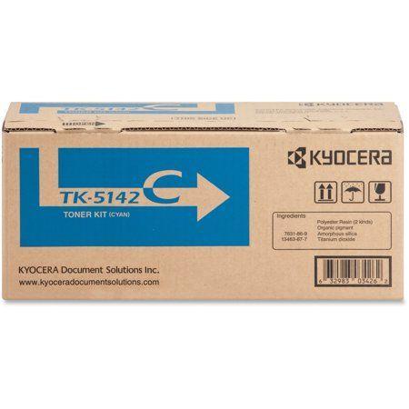 Kyocera, KYOTK5142C, TK-5142 Toner Cartridge, 1 Ea…