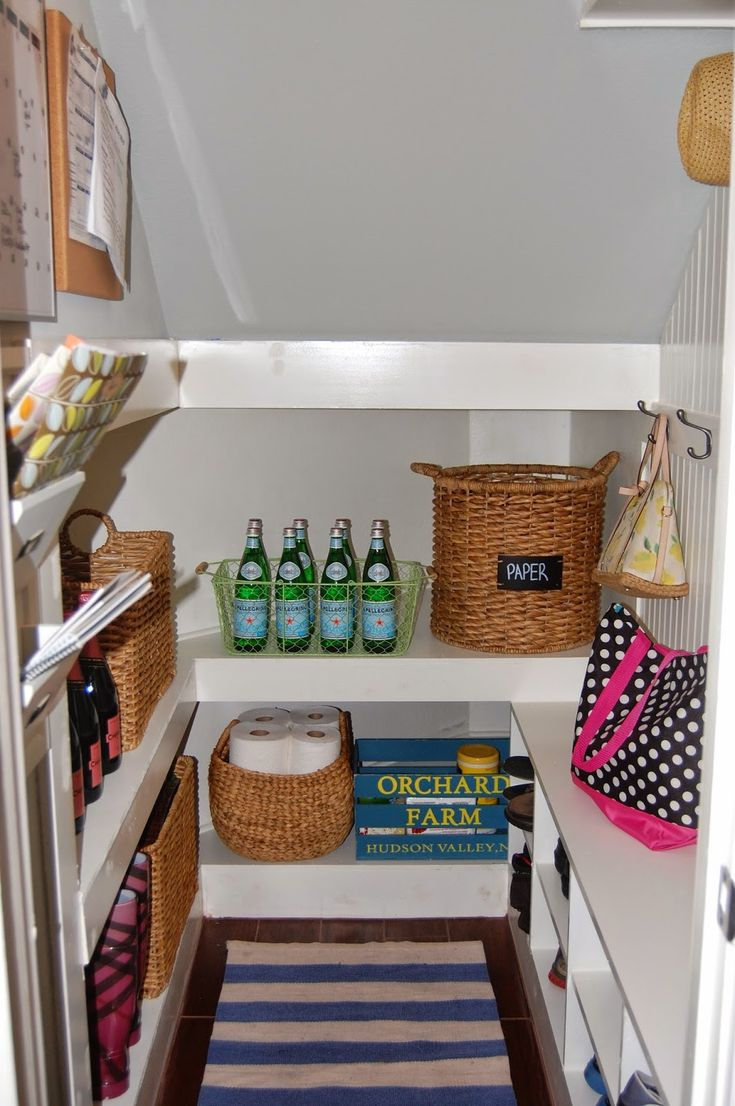 Mudroom Reveal - A tiny room packed with tons of storage space. Closet Under  StairsStorage ...