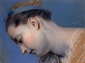 Study of a woman's face - Maurice Quentin de La Tour