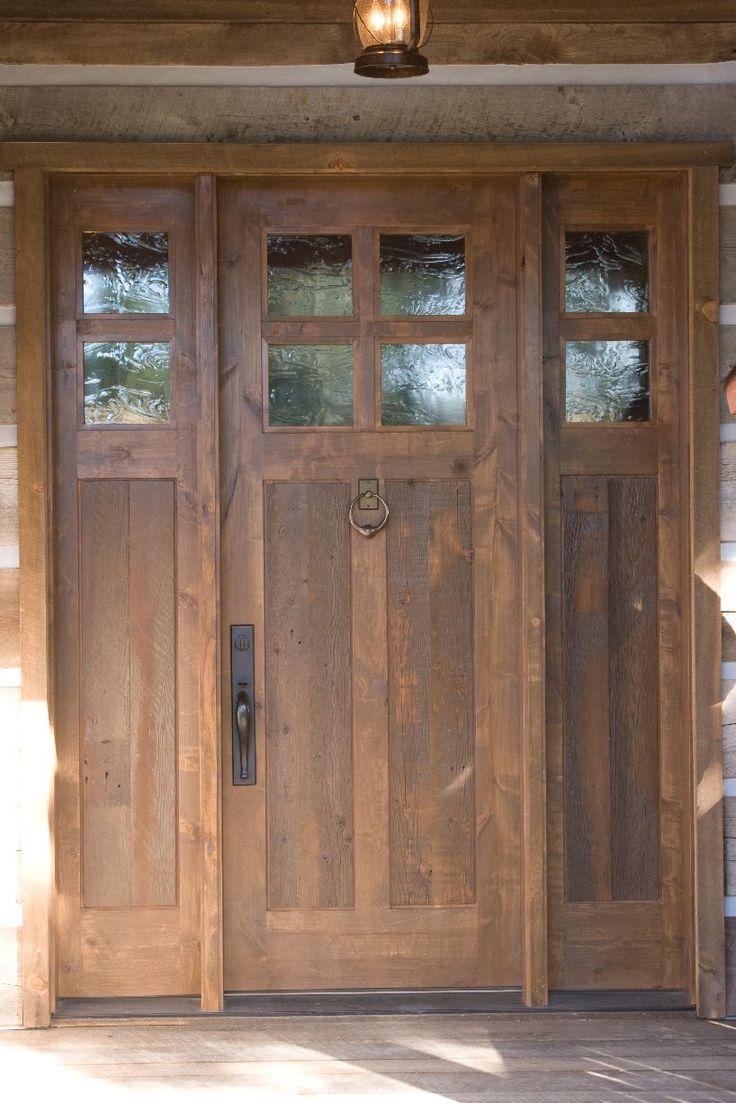 31 Best Images About Exterior Doors On Pinterest Rustic Wood Craftsman Door And Dark Mahogany