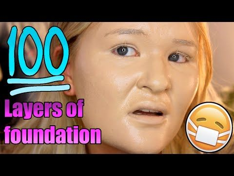 100 Layers Of Foundation Looks Even More Terrifying Than It Sounds