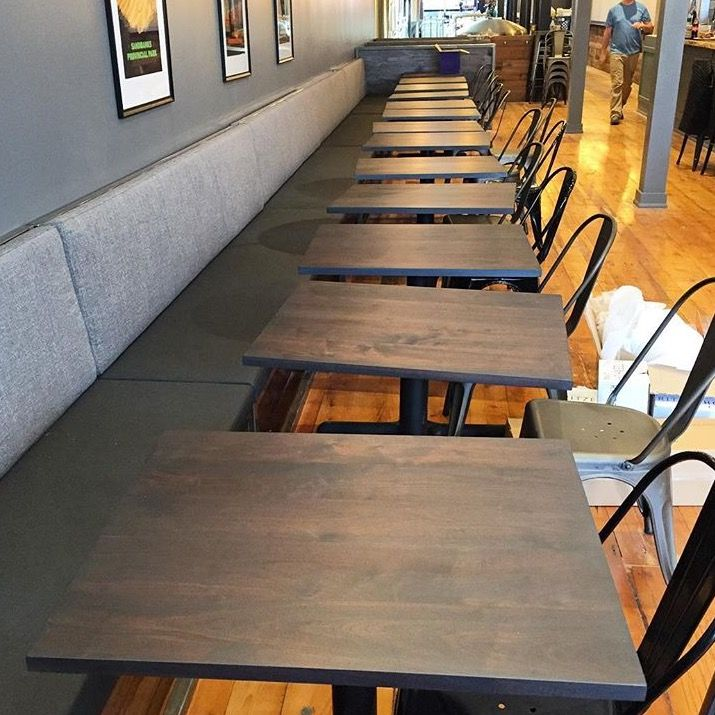 These tables turned out great for one of our many commercial projects!