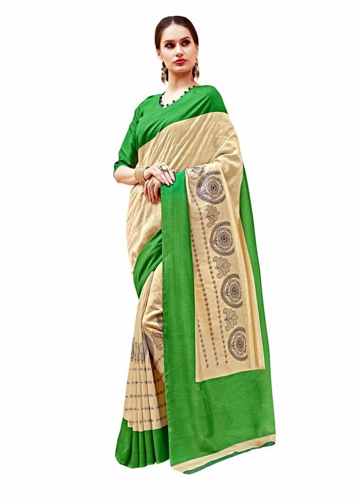 buy saree online Cream Colour Pure Silk Printed Saree Buy Saree online - Buy Sarees online