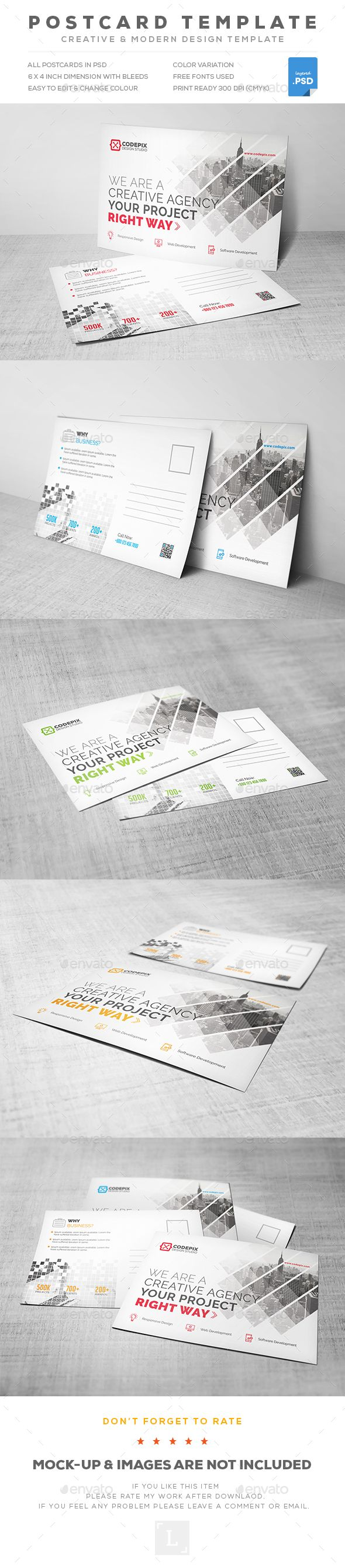 Corporate Postcard Template PSD                                                                                                                                                                                 More