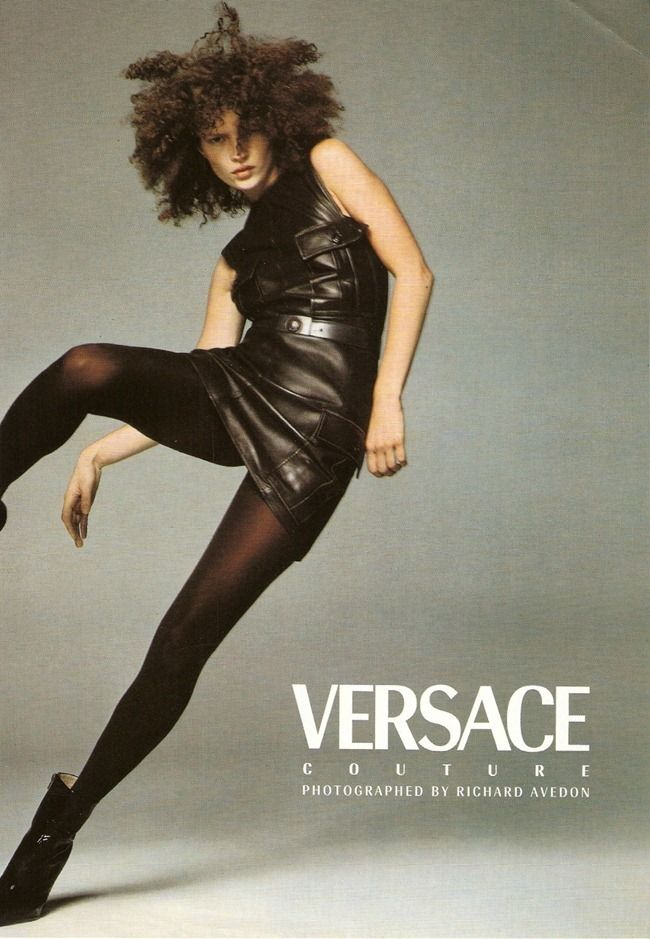 Kate Moss for Versace by Richard Avedon, fall 1996