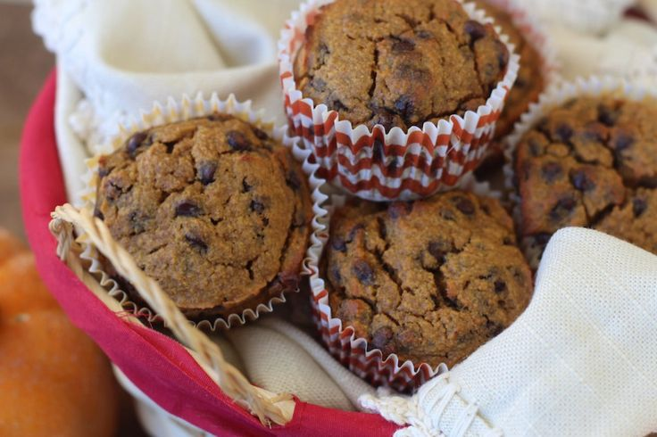 #paleo Chocolate Chip Pumpkin Muffins