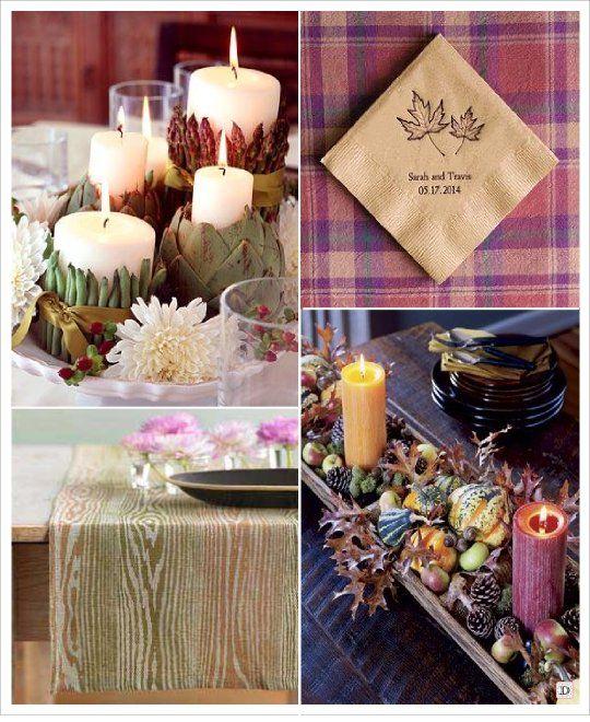 16 best id e decoration pour mariage th me automne idea wedding decorating - Decoration pour buffet ...