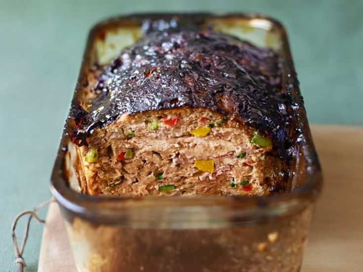 Vegetable Meatloaf with Balsamic Glaze recipe from Bobby Flay via Food Network. The Balsamic Gaze would be good on ANY meatloaf recipe.