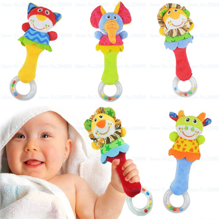 2016 Baby Rassel Spielzeug Tier Hand Glocken Plüsch Baby Spielzeug Hohe Qualität Newbron Geschenk Weihnachten Tier Stil Kostenloser Versand