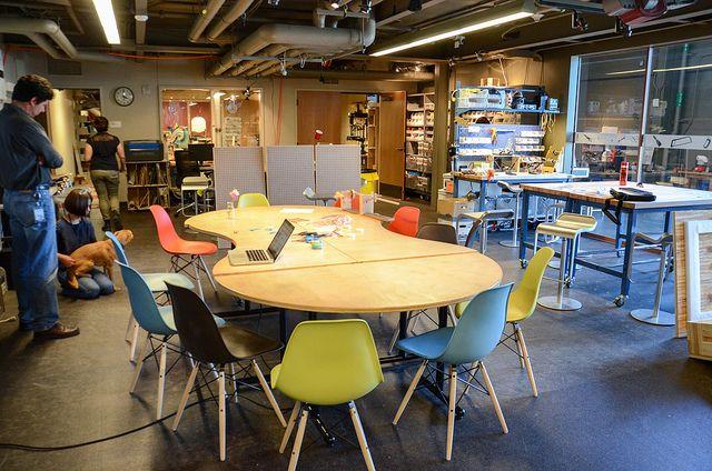 Onderwijs inrichting 2234 pinterest for Apartment makerspace
