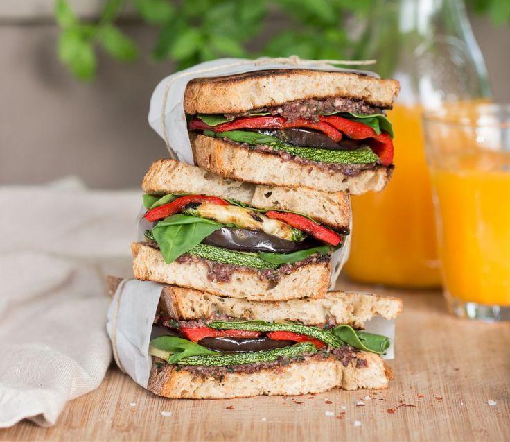 Mediterranean vegan sandwich - Lazy Cat Kitchen