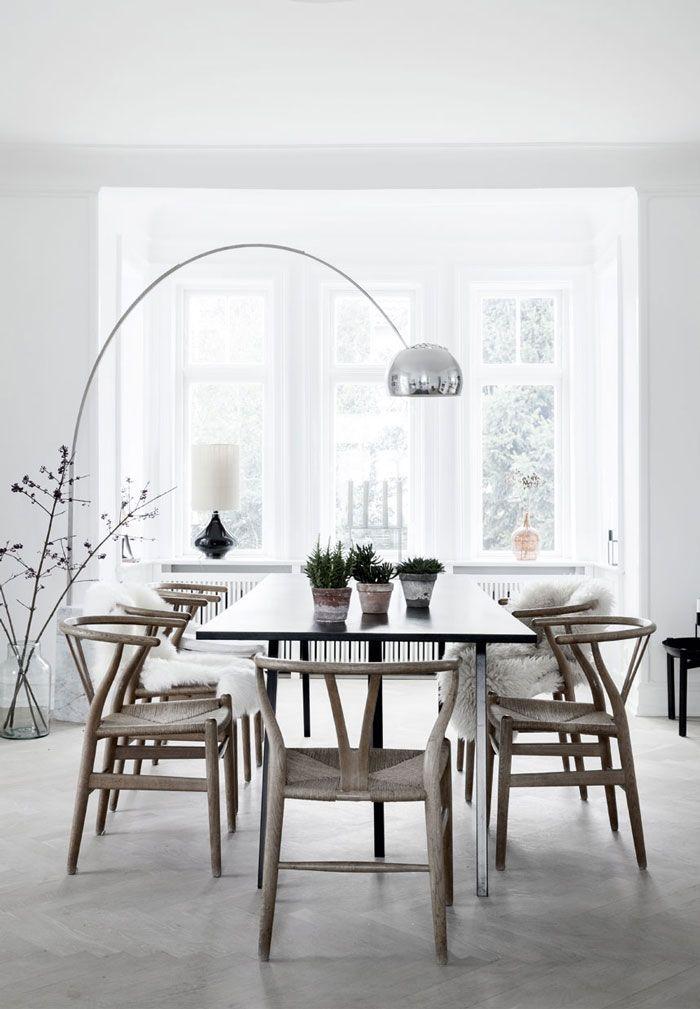 Wishbone chair by Hans J. Wegner from Carl Hansen & Søn | Luminous Villa in…