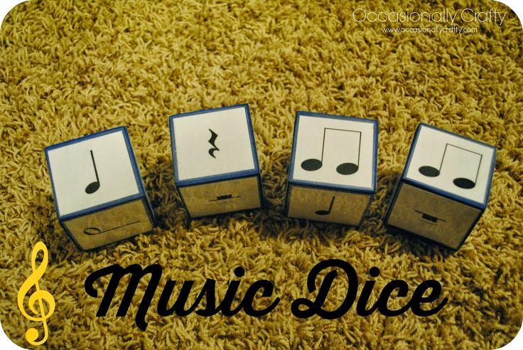 Occasionally Crafty: Music Dice