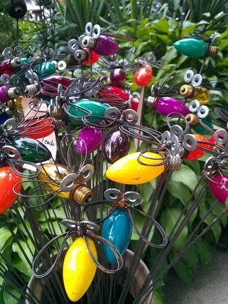 lightning bug garden decorations