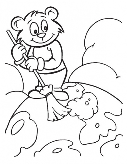 Make the Earth a clean place to live coloring page | Download Free Make the Earth a clean place to live coloring page for kids | Best Coloring Pages