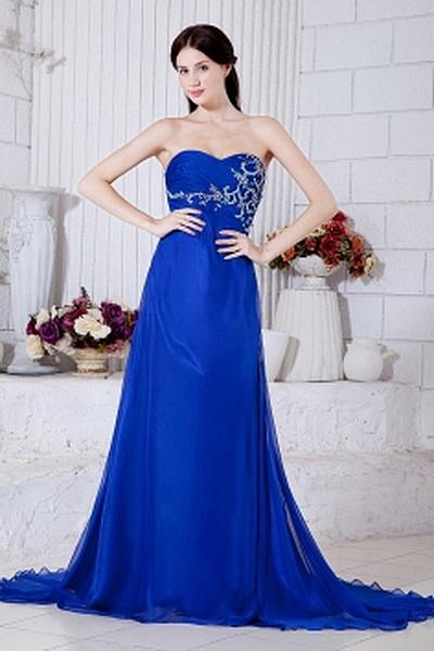 Sheath-Column Chiffon Elegant Graduation Dresses wr1379 - http://www.weddingrobe.co.uk/sheath-column-chiffon-elegant-graduation-dresses-wr1379.html - NECKLINE: Sweetheart. FABRIC: Chiffon. SLEEVE: Sleeveless. COLOR: Blue. SILHOUETTE: Sheath/Column. - 154.