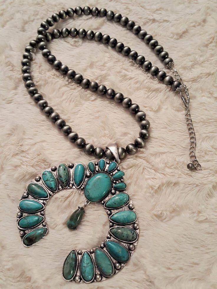 Inca Empire Squash Blossom Necklace
